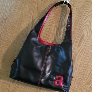 "Nine West ""a"" black and red purse"